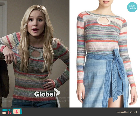 Free People Sunshine Dreamer Sweater worn by Kristen Bell on The Good Place