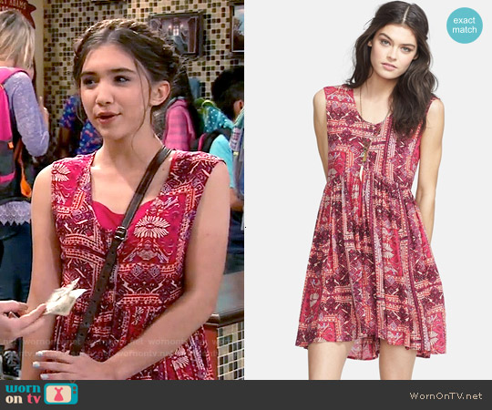 Free People 'Take Me to Thailand' Babydoll Dress worn by Rowan Blanchard on Girl Meets World