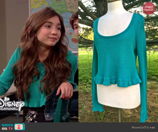 Free People Thermal Love Crop Top worn by Rowan Blanchard on Girl Meets World
