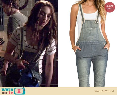 Free People Thomas Overalls worn by Troian Bellisario on PLL
