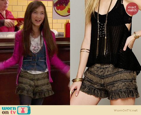 Free People Tiered Ruffle Skort worn by Rowan Blanchard on Girl Meets World