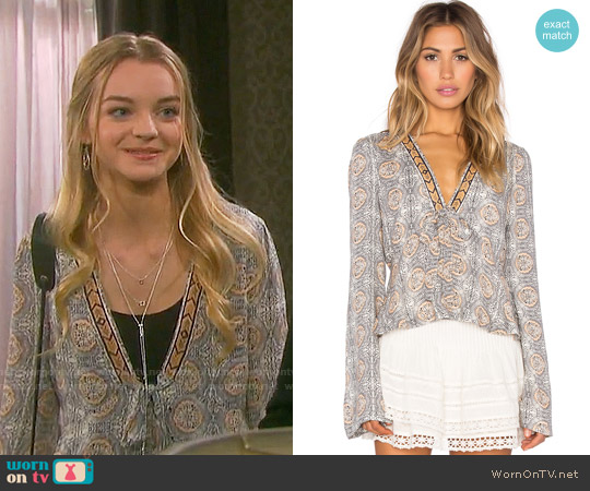 Free People Time Of Your Life Top worn by Olivia Rose Keegan on Days of our Lives