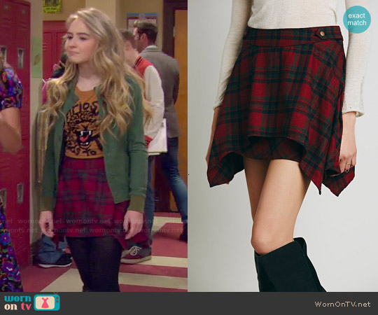 Free People Too Cool for School Mini Skirt worn by Maya Hart on Girl Meets World