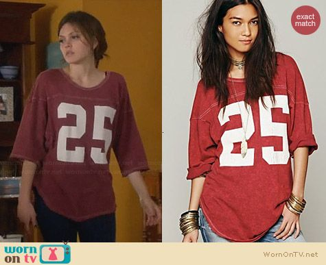 Free People Touch Down Tunic worn by Aimee Teegarden on Star-Crossed