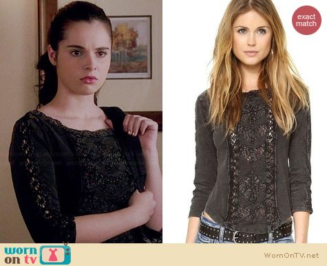 Free People Truly Madly Top worn by Vanessa Marano on Switched at Birth