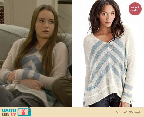 Free People Twelve Rose Sweater worn by Kaitlyn Dever on Last Man Standing