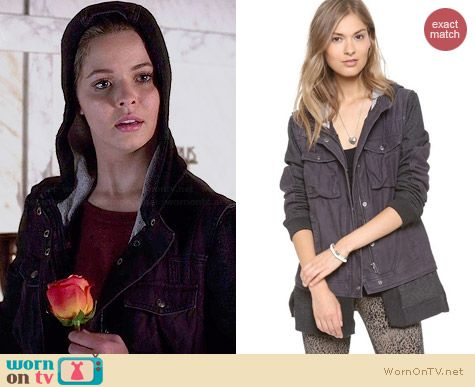 Free People Twill Jacket worn by Sasha Pieterse on PLL