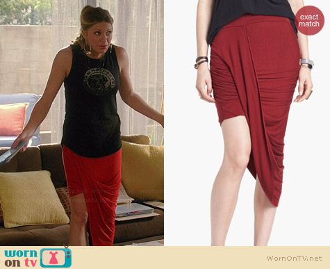 Free People Twist and Shout Skirt worn by Jess Macallan on Mistresses