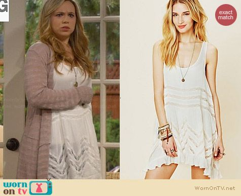 Free People Viole Trapeze Slip worn by Amanda Fuller on Last Man Standing