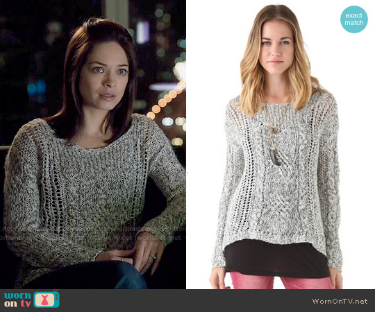 Free People West End Pullover worn by Kristin Kreuk on Beauty & the Beast