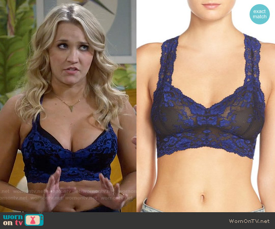 Free People Wild Roses Bralette worn by Emily Osment on Young & Hungry