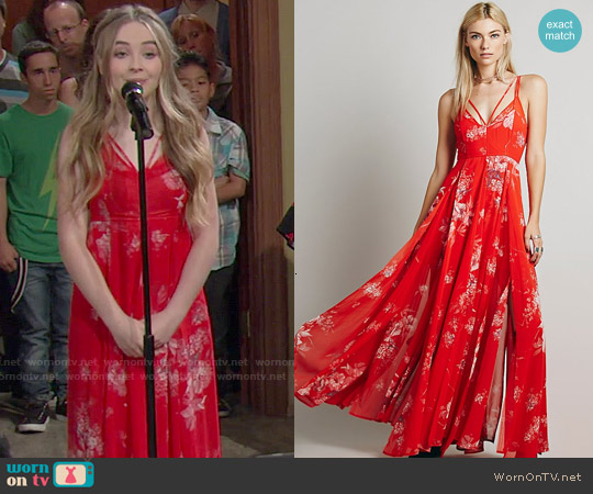 Free People Winter Garden Maxi Dress worn by Sabrina Carpenter on Girl Meets World
