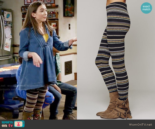 Free People Winter Story Sweater Legging worn by Riley Matthews on Girl Meets World