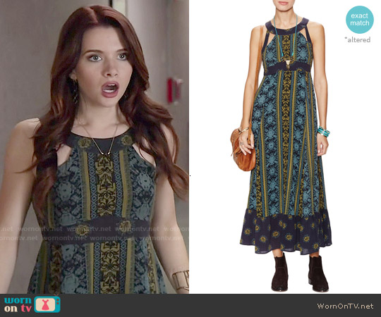 Free People Emerald You Made My Day Dress worn by Katie Stevens on Faking It