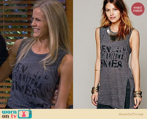 Free People Zepplin Tank worn by Brooklyn Decker on FWBL