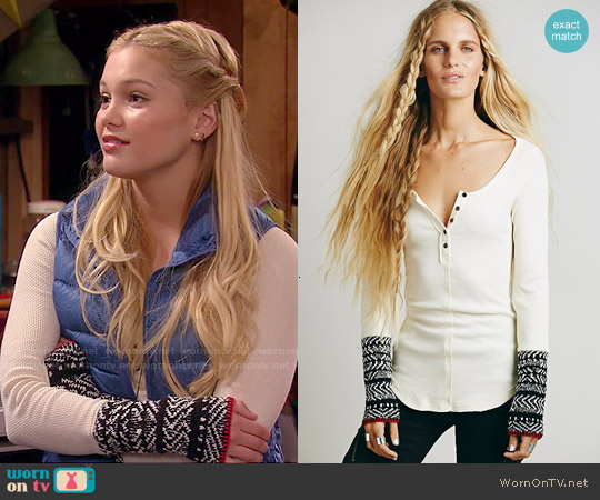 Free People Alpine Cuff Thermal worn by Olivia Holt on IDDI