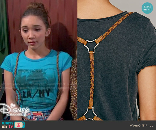 Free People Braided Harness Belt in Tan worn by Riley Matthews on Girl Meets World