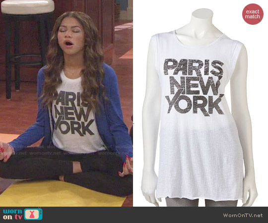 Freeze Paris New York Sleeveless Tee worn by Zendaya on KC Undercover