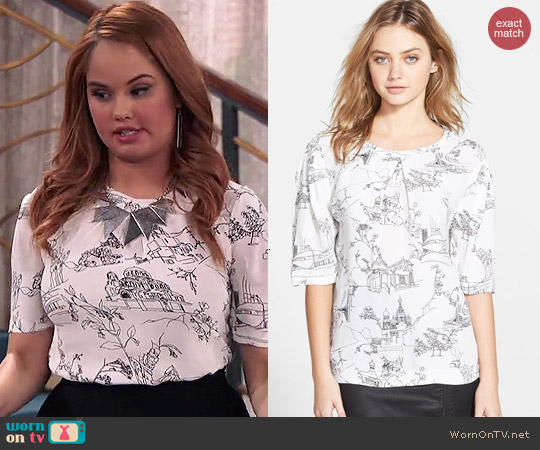 French Connection Anastasia Print Top worn by Debby Ryan on Jessie