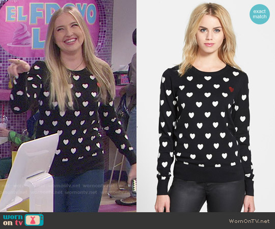 French Connection Broken Hearts Sweater worn by Veronica Dunne on KC Undercover