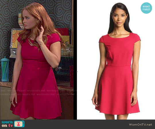 French Connection Classic Whisper Ruth Fit & Flare Dress worn by Debby Ryan on Jessie