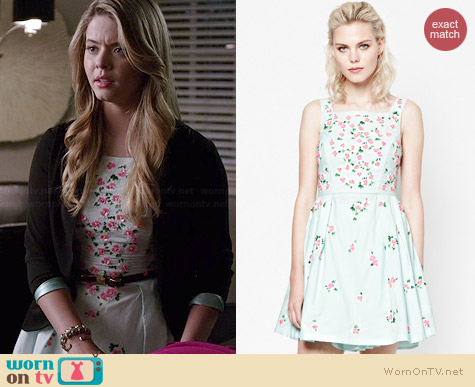 French Connection Ditsy Dorothy Dress worn by Sasha Pieterse on PLL