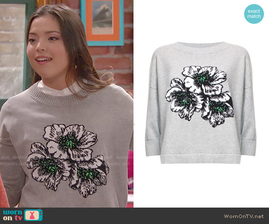 French Connection Eddie Pop Sweater worn by Piper Curda on I Didnt Do It