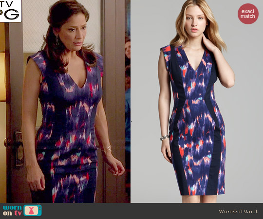 French Connection Electric Avenue Dress worn by Constance Marie on Switched at Birth