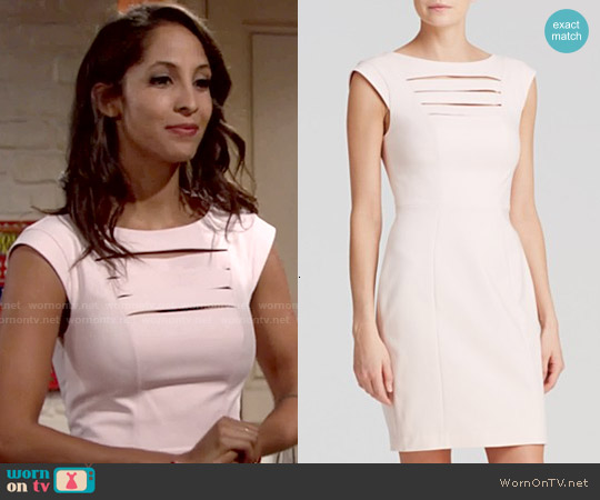 French Connection Estelle Dress worn by Christel Khalil on The Young & the Restless