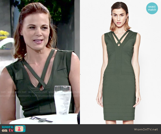 French Connection Fast Quinn Dress worn by Gina Tognoni on The Young & the Restless