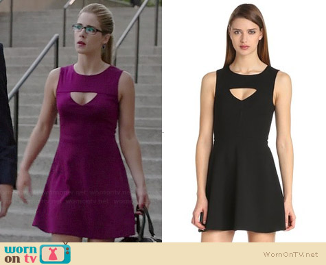 French Connection Feather Ruth Dress worn by Emily Bett Rickards on Arrow