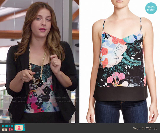 French Connection Floral Reef Tank worn by Paige Spara on Kevin from Work