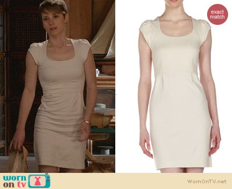 French Connection Georgia Dress in Ivory worn by Karine Vanasse on Revenge