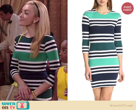 French Connection Jag Stripe Dress worn by Peyton List on Jessie