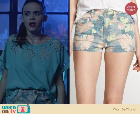 French Connection Jungle Shorts worn by Holland Roden on Teen Wolf