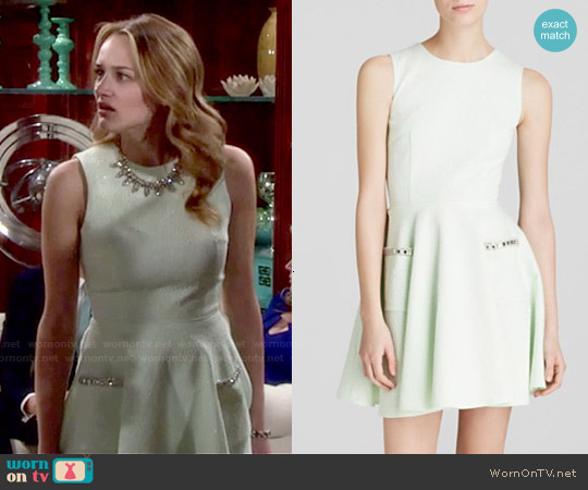 French Connection Lickity Split Dress worn by Hunter King on The Young & the Restless