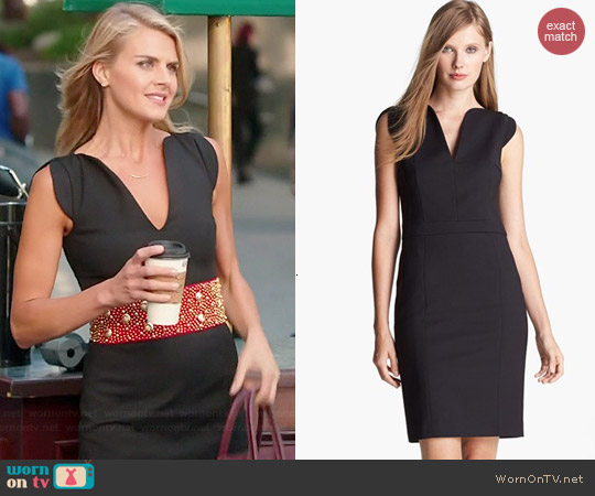 French Connection Lolo Dress in Black worn by Eliza Coupe on Benched