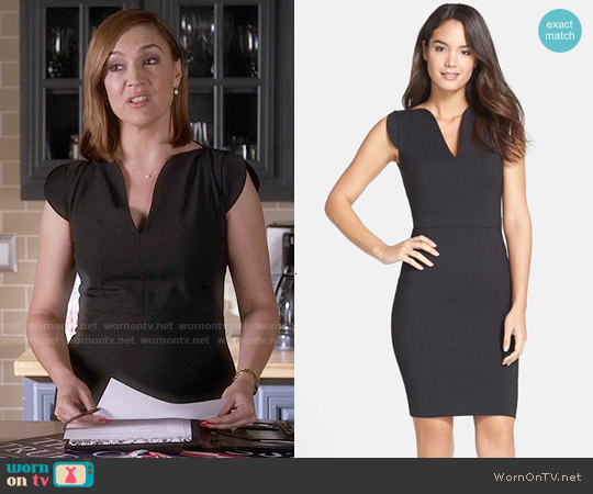 French Connection 'Lolo' Sheath Dress worn by Lesley Fera on PLL