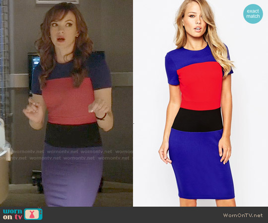 79d65e08f41 WornOnTV  Caitlin s blue and red colorblock dress on The Flash ...