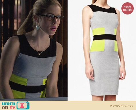 French Connection Manhattan Jersey Dress worn by Emily Bett Rickards on Arrow