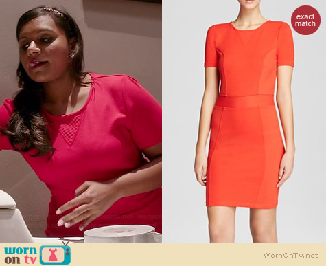 French Connection Manhattan Textured Dress worn by Mindy Kaling on The Mindy Project