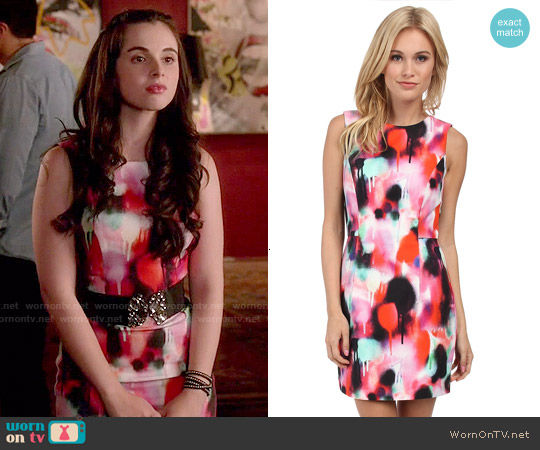 French Connection Miami Graffiti Dress worn by Vanessa Marano on Switched at Birth