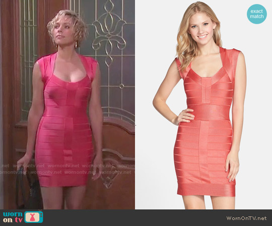 French Connection Miami Spotlight Dress in Coral Beach worn by Arianne Zucker on Days of our Lives