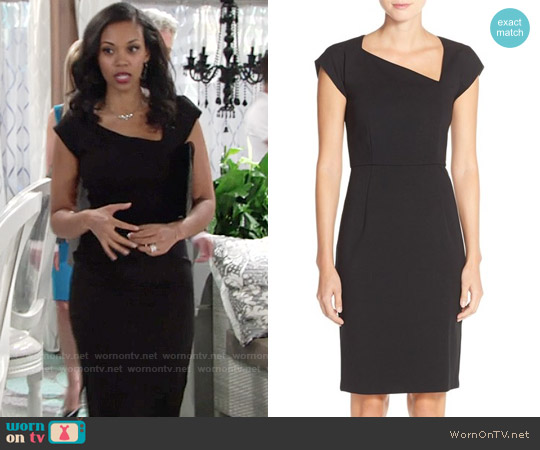 French Connection Nadine Sheath Dress worn by Mishael Morgan on The Young & the Restless