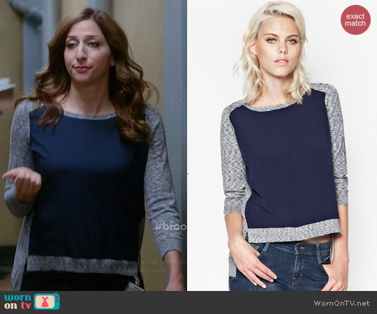 French Connection Odette Melange Block Jumper worn by Chelsea Peretti on Brooklyn 99