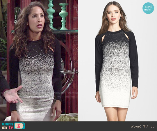 French Connection Ombre Dust Jersey Sheath Dress worn by Christel Khalil on The Young & the Restless