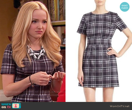 French Connection Plaid Sheath Dress worn by Dove Cameron on Liv & Maddie