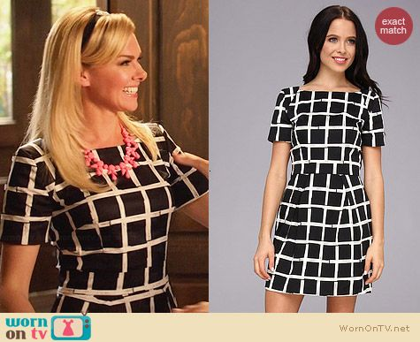 French Connection Richie Paint Check Dress worn by Laura Bell Bundy on Hart of Dixie