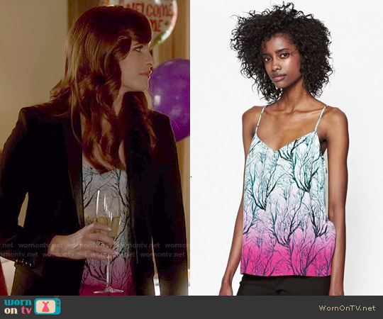 French Connection Sea Fern Tank worn by Danielle Panabaker on The Flash