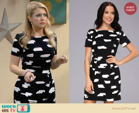 French Connection Summer Bark Dress worn by Melissa Joan Hart on Melissa & Joey